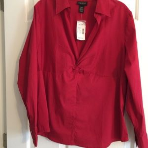 Plus Size Bright Red Dressy Blouse